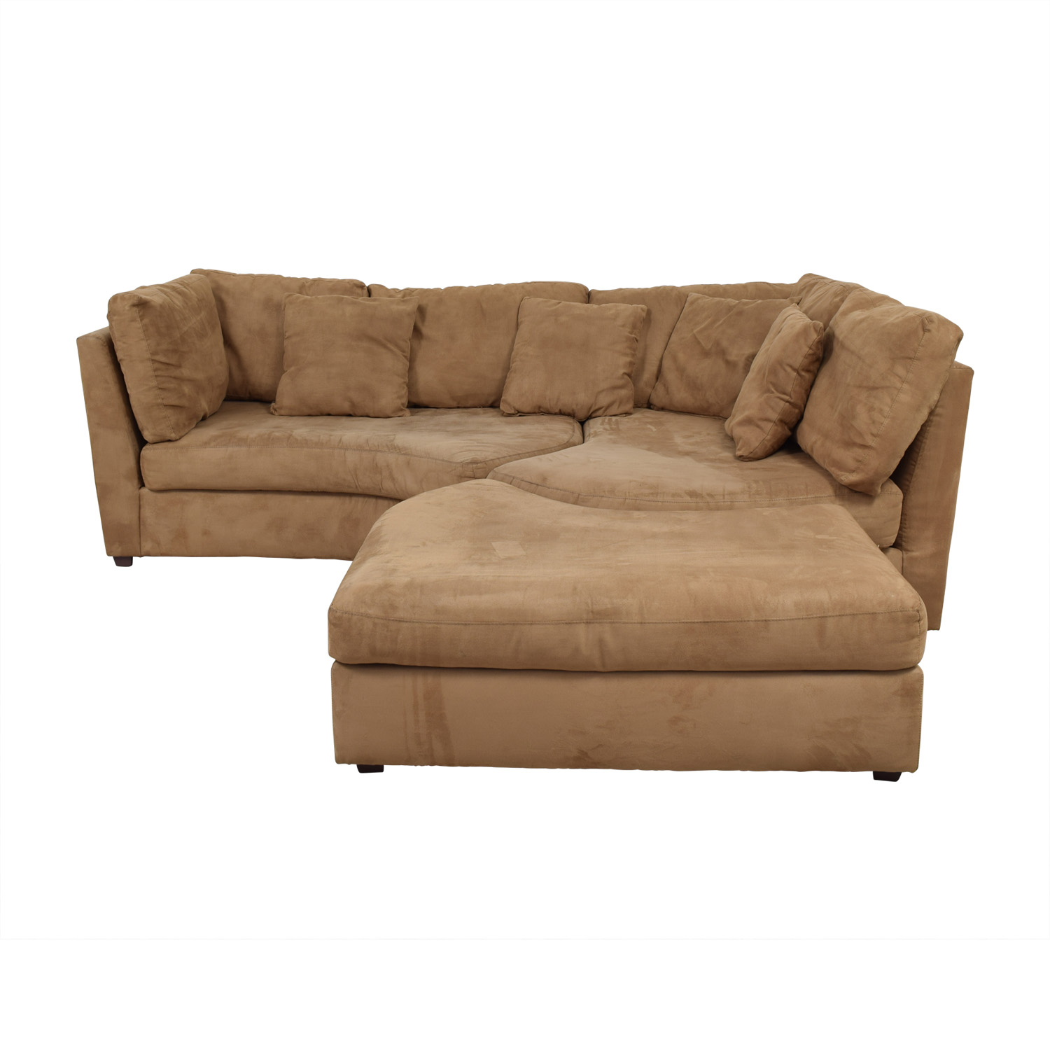 Raymour & Flanigan Raymour & Flanigan Sectional Sofa With Ottoman