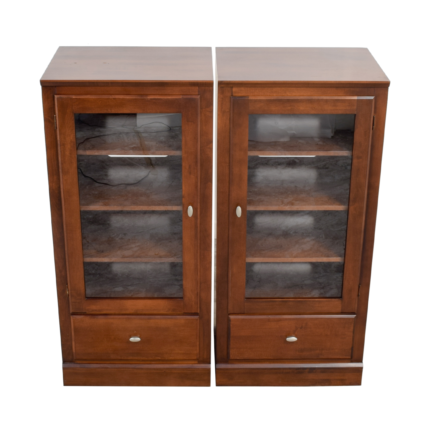 buy Ethan Allen Wood and Glass Side Hutches Ethan Allen Bookcases & Shelving