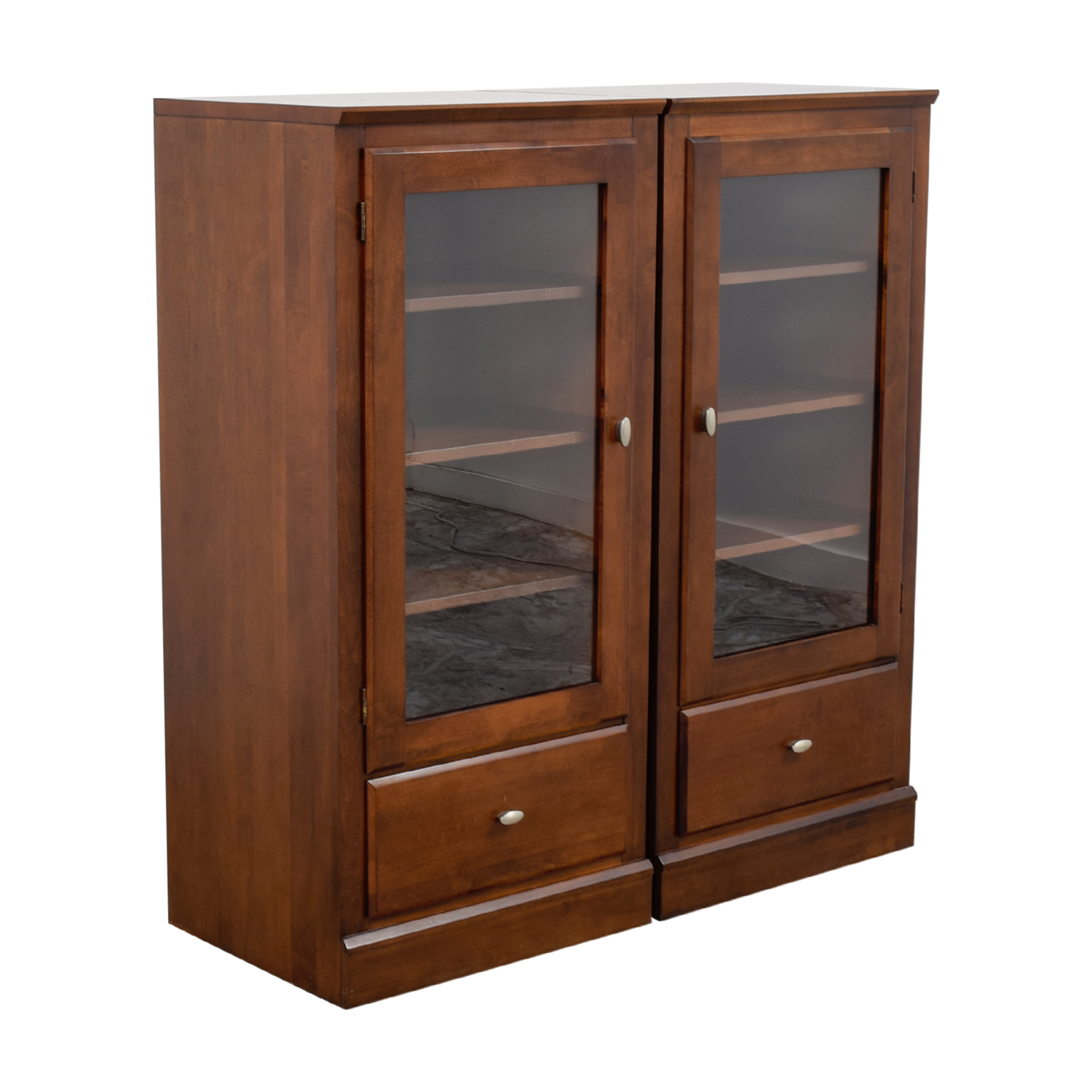 shop Ethan Allen Ethan Allen Wood and Glass Side Hutches online