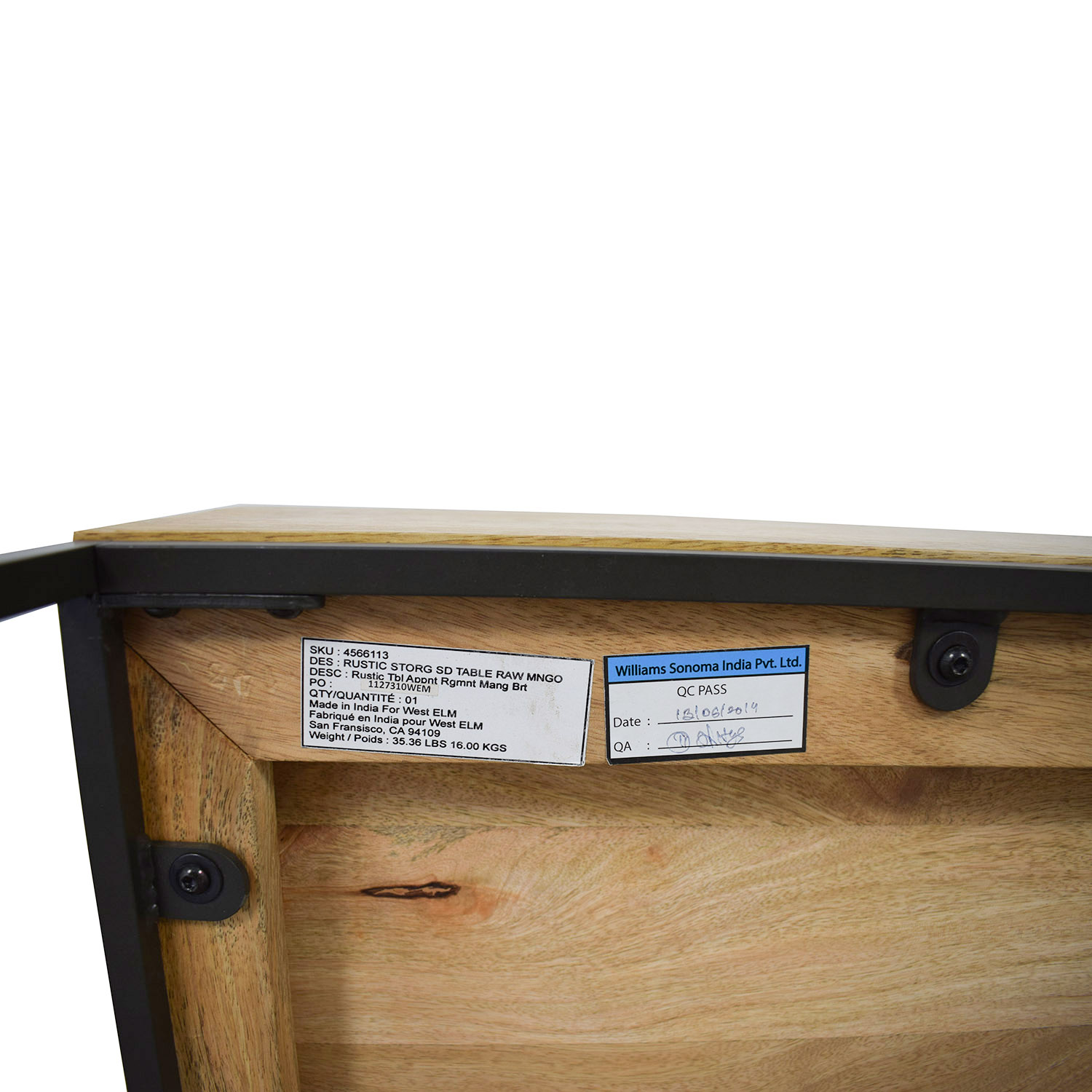 shop West Elm Rustic Raw Mango Wood Single-Drawer End Tables West Elm End Tables