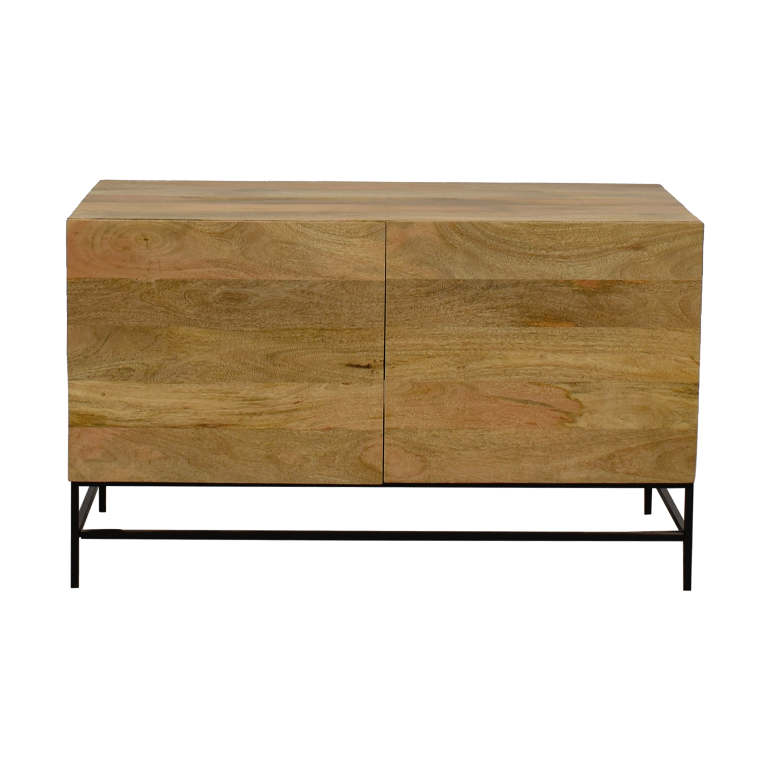 William Sonoma William Sonoma Natural Raw Mango Wood Media Console price