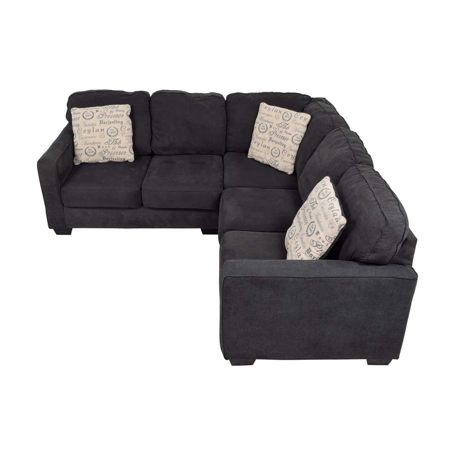 buy Ashley Furniture Alenya Black L-Shaped Sectional Ashley Furniture Sofas