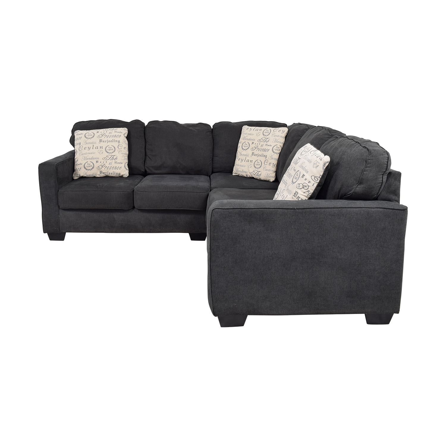 Ashley Furniture Ashley Furniture Alenya Black L-Shaped Sectional on sale