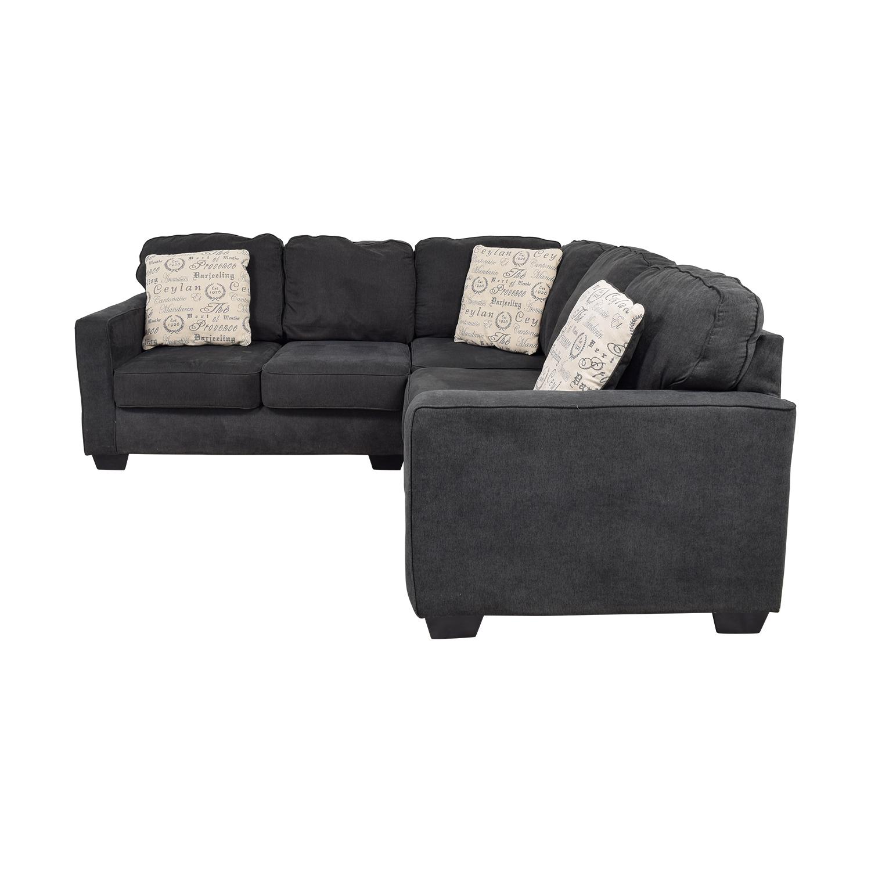 65% OFF - Ashley Furniture Ashley Furniture Alenya Black L-Shaped Sectional  / Sofas