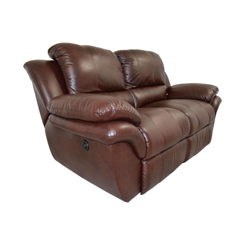 78 Off Bob S Furniture Bob S Furniture Brown Leather