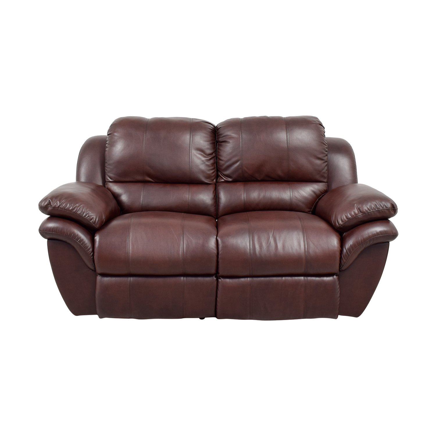 Bob's Furniture Brown Leather Recliner / Classic Sofas
