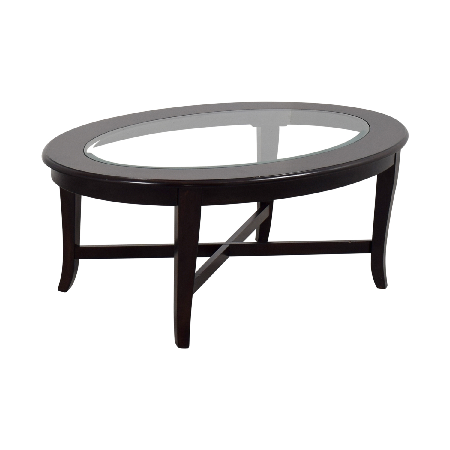 Bobs Furniture Bobs Furniture Oval Glass Coffee Table