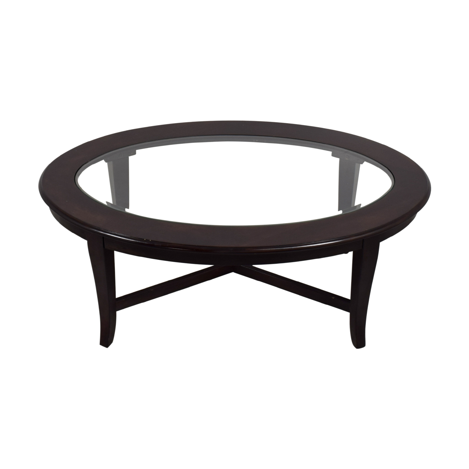 Bob's Furniture Bob's Furniture Oval Glass Coffee Table discount