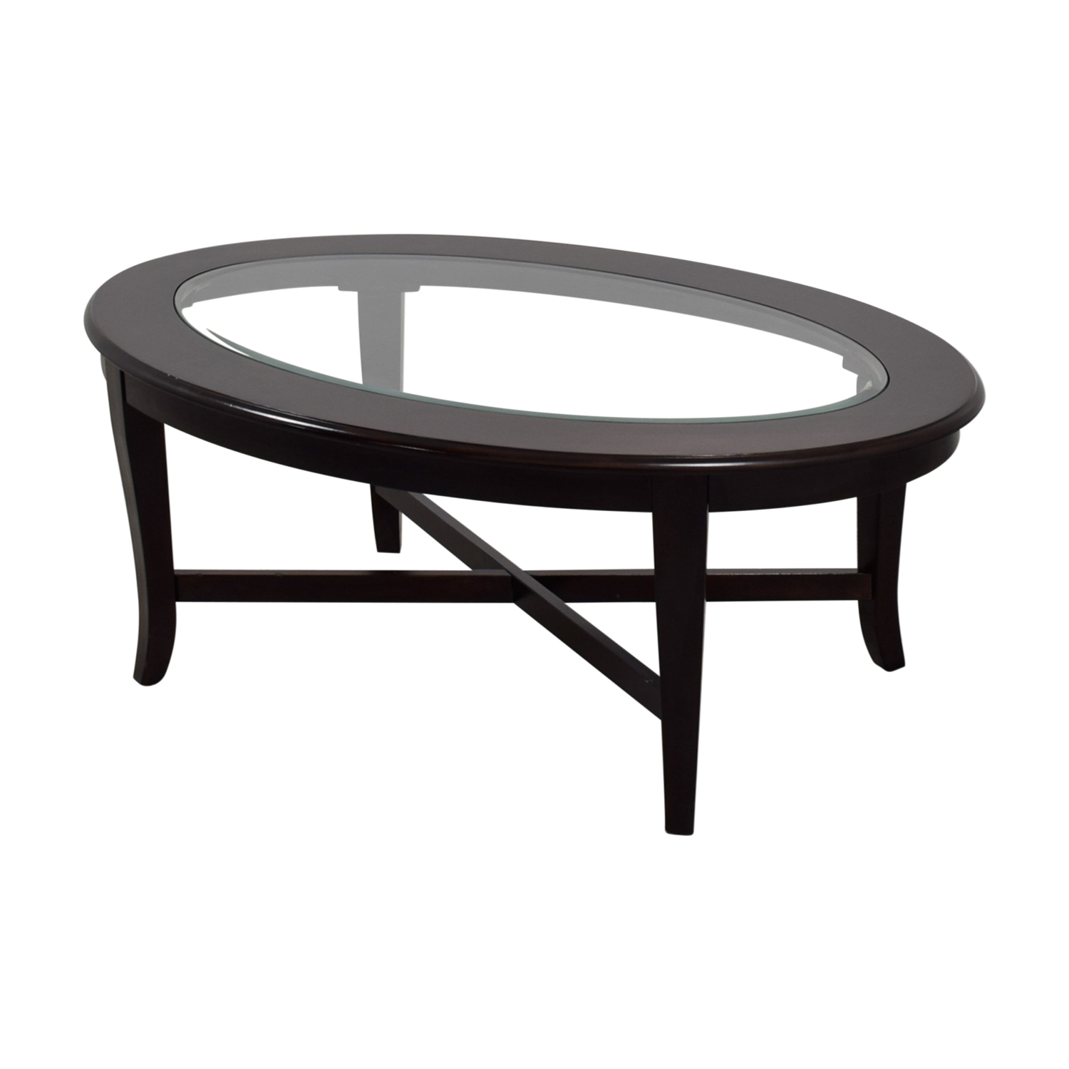 Bobs Furniture Oval Glass Coffee Table Bobs Furniture