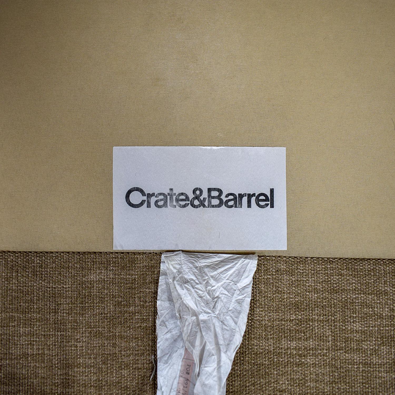 Crate & Barrel Crate & Barrel Davis Tan Two-Cushion Sofa Sofas