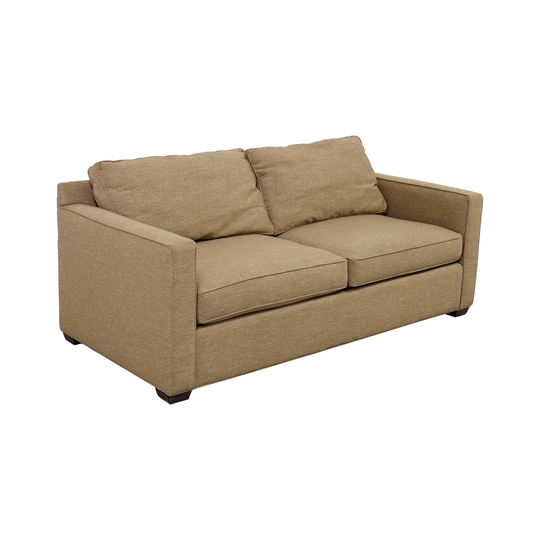 Crate & Barrel Crate & Barrel Davis Tan Two-Cushion Sofa for sale