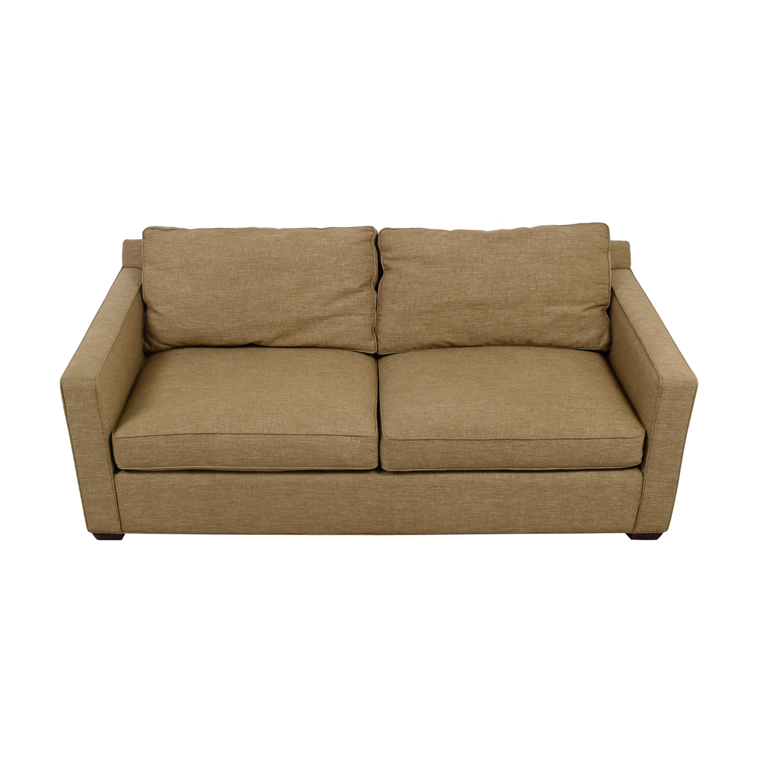 shop Crate & Barrel Crate & Barrel Davis Tan Two-Cushion Sofa online