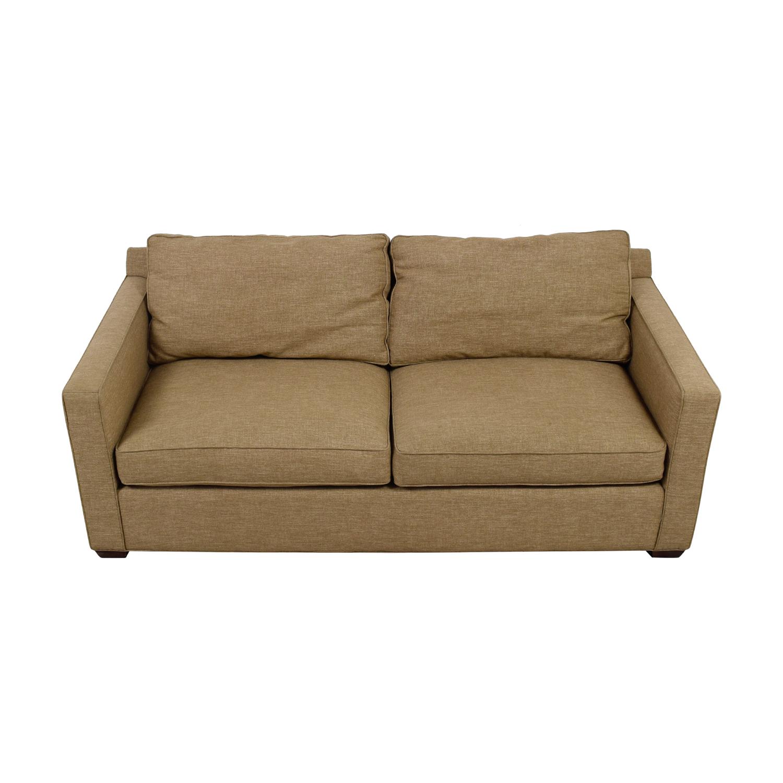 Crate & Barrel Crate & Barrel Davis Tan Two-Cushion Sofa nj