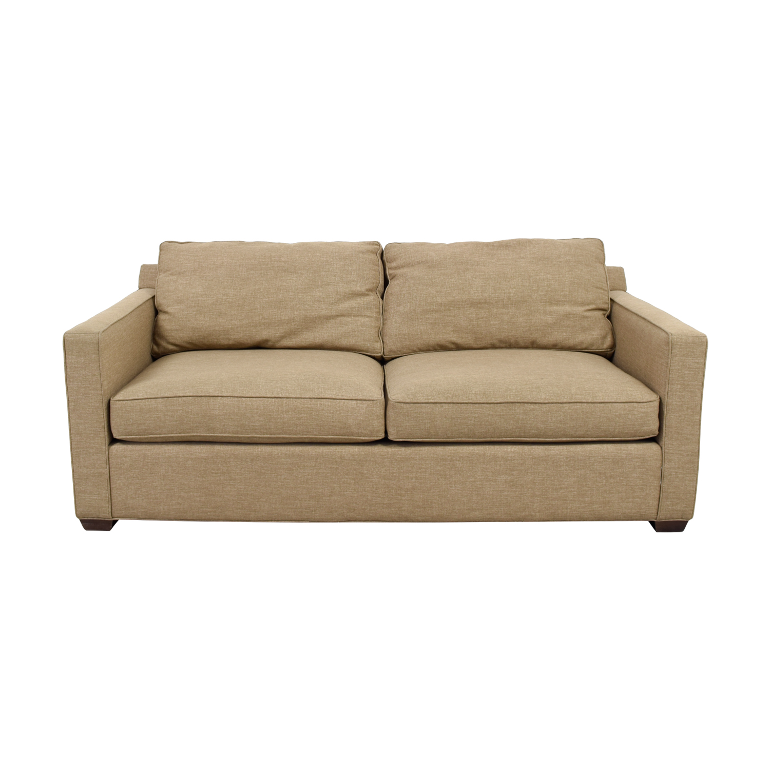 Crate & Barrel Crate & Barrel Davis Tan Two-Cushion Sofa