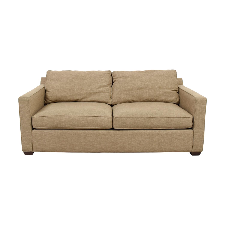 Crate & Barrel Crate & Barrel Davis Tan Two-Cushion Sofa Brown