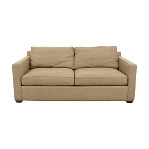 Crate & Barrel Crate & Barrel Davis Tan Two-Cushion Sofa coupon