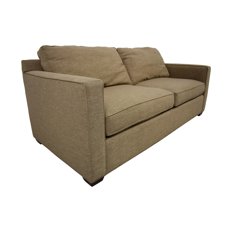 Crate & Barrel Crate & Barrel Davis Tan Two-Cushion Sofa