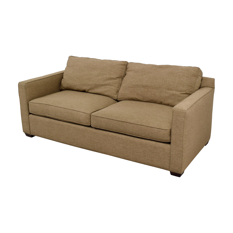 shop Crate & Barrel Davis Tan Two-Cushion Sofa Crate & Barrel Classic Sofas