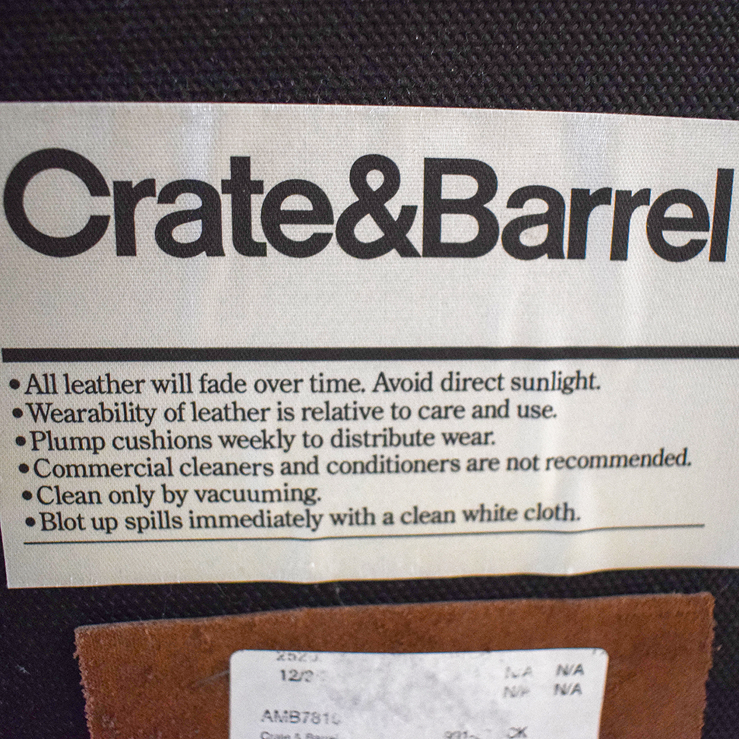Crate & Barrel Crate & Barrel Brown Tufted Leather Queen Bed dimensions