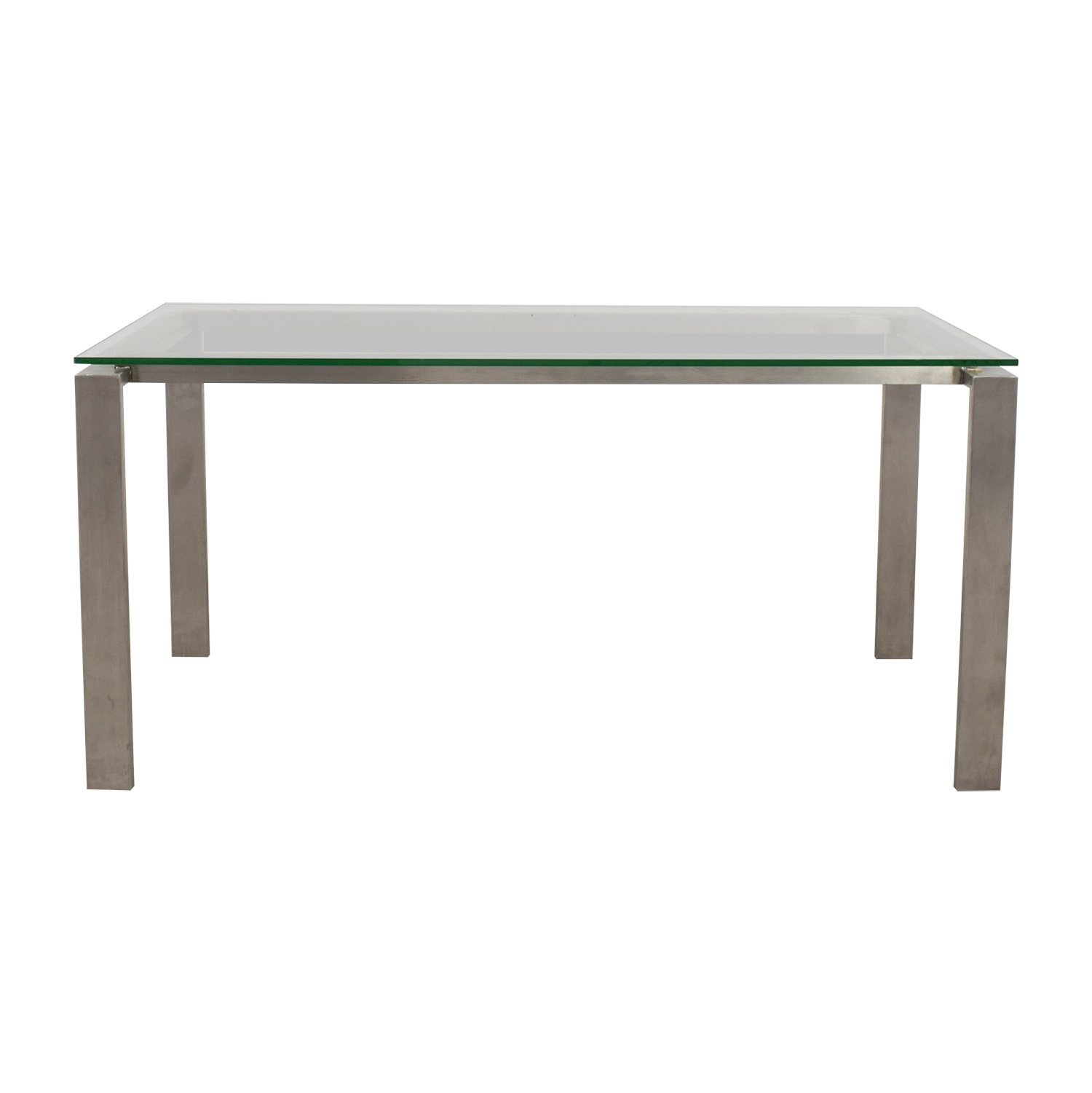 Room & Board Room & Board Rand Stainless Steel and Glass Dining Table for sale