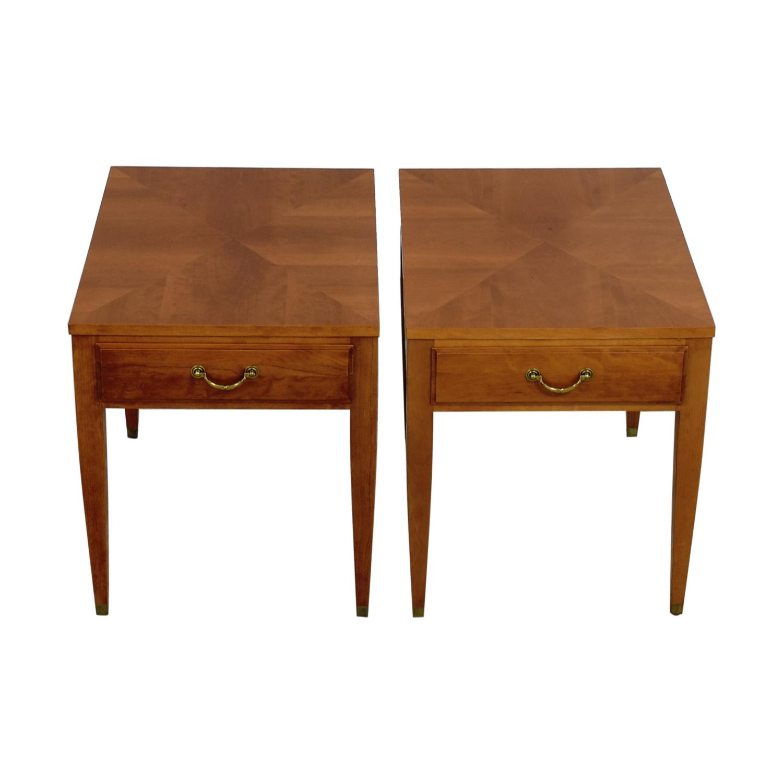 Ethan Allen Darlene Single Drawer Wood End Tables sale