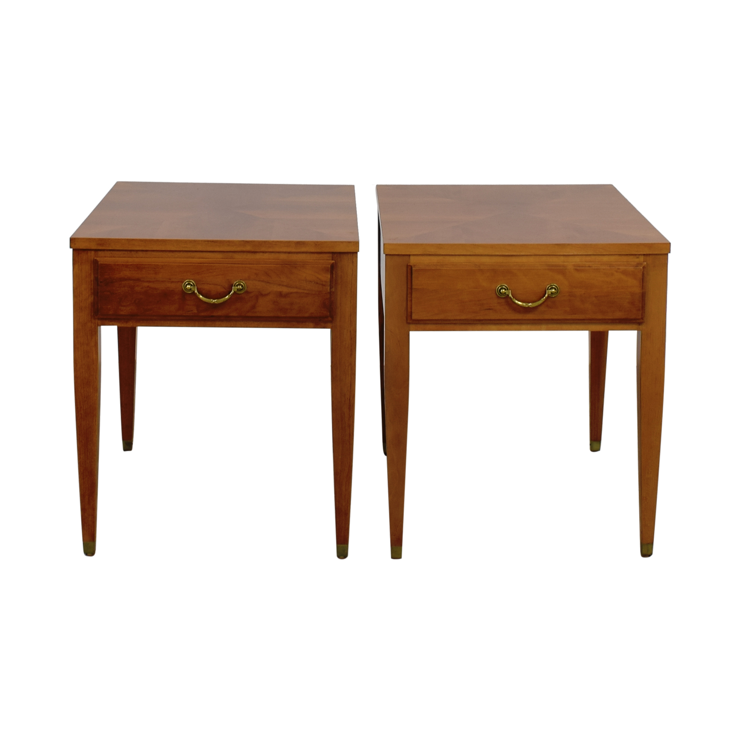 wood end tables. Ethan Allen Darlene Single Drawer Wood End Tables Nyc