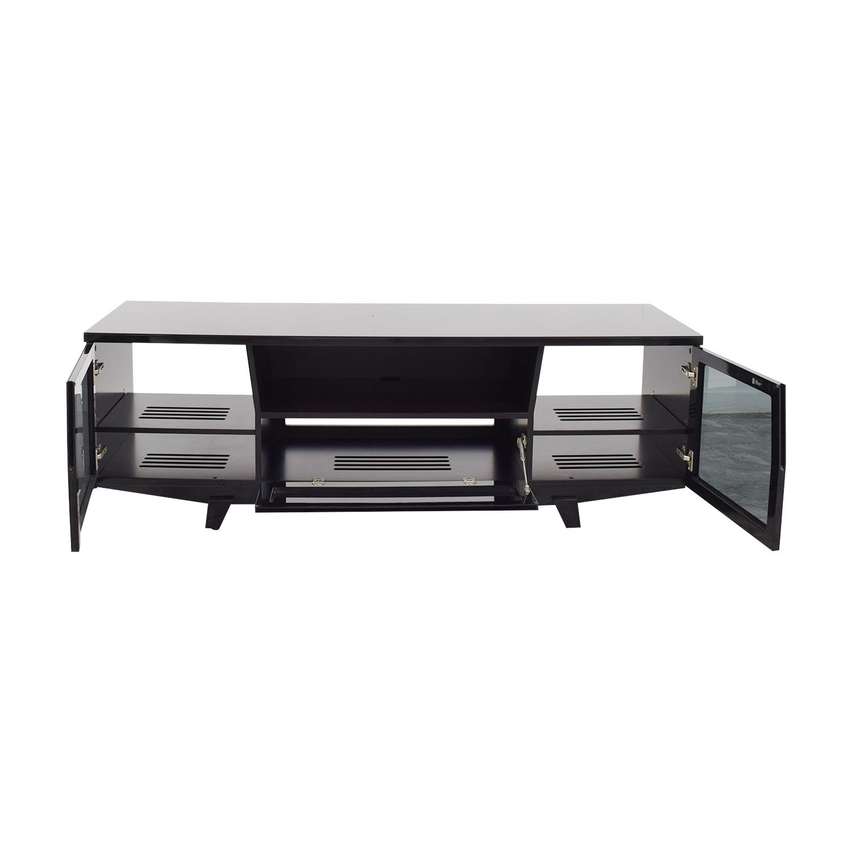 shop BDI Furniture Custom Modern Black Patent Media Console BDI Furniture Media Units