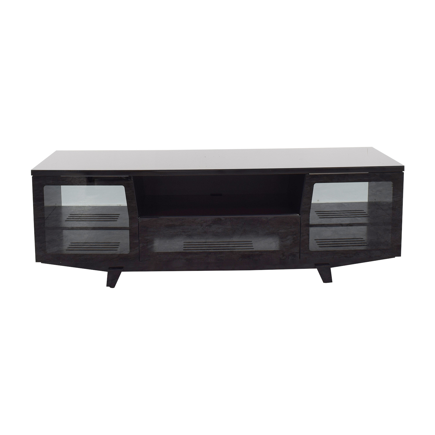Buy bdi furniture custom modern black patent media console bdi furniture storage