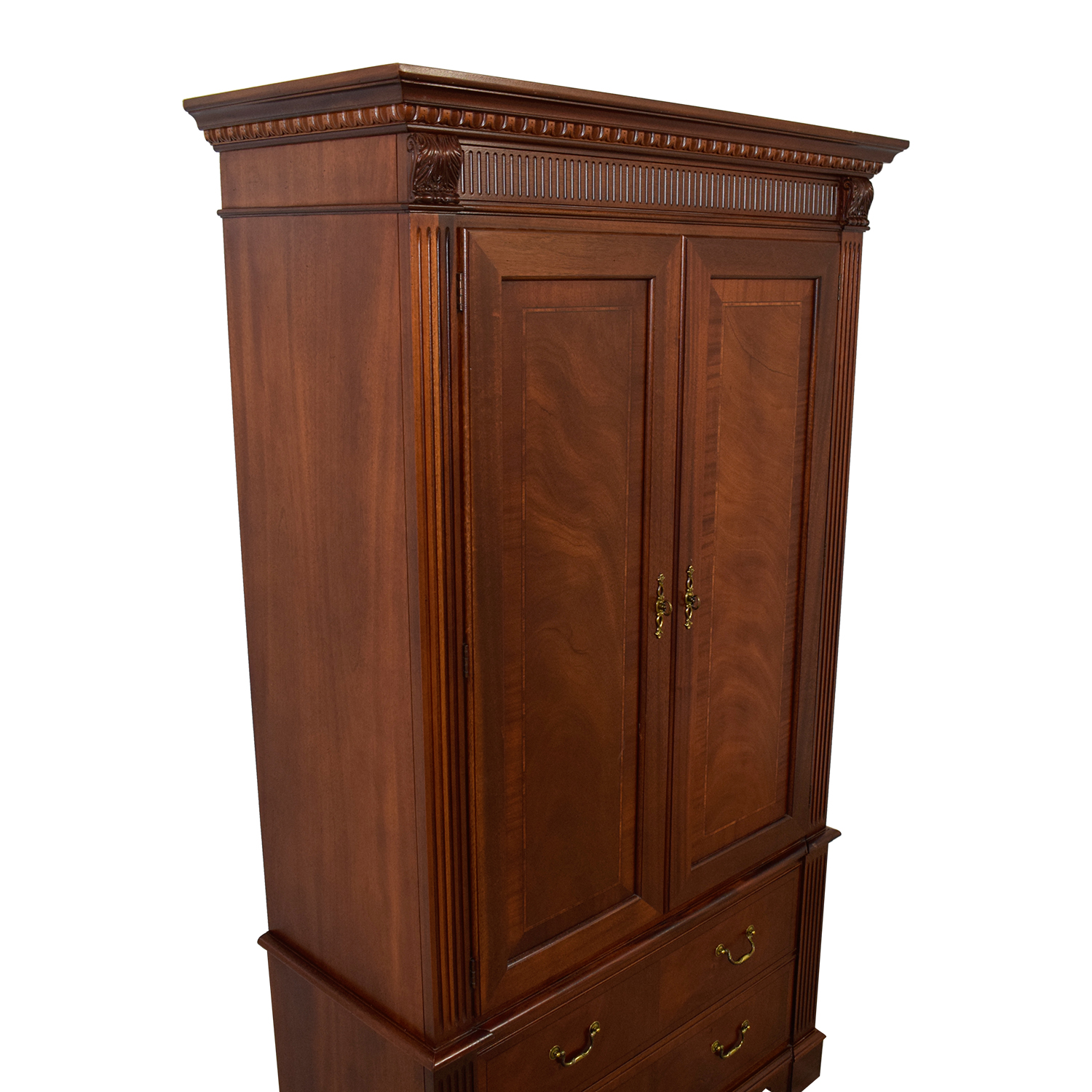 Ethan Allen Ethan Allen Wood TV Armoire with Shelves dimensions