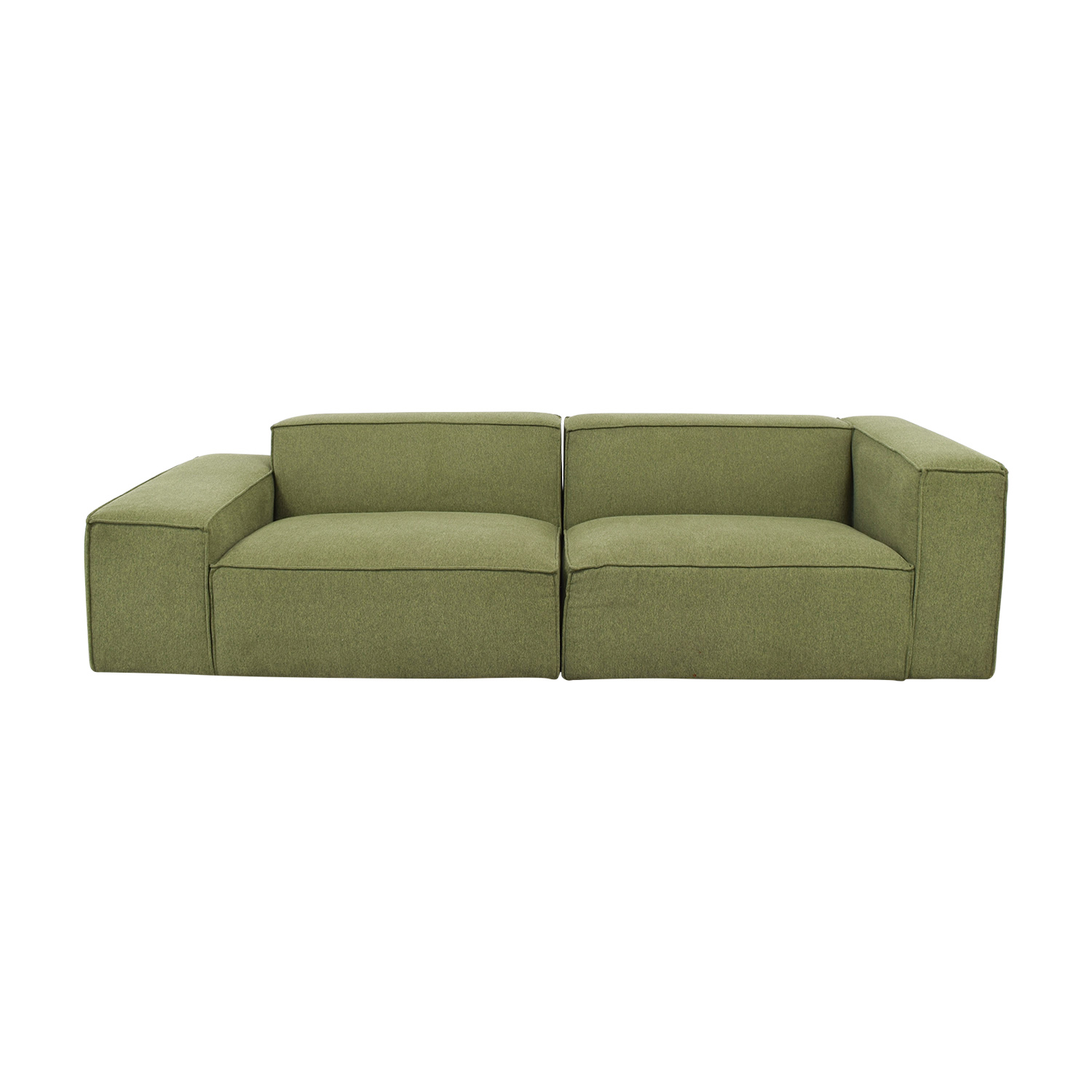 buy  Gray Performance Felt Evergreen Two Cushion Sofa online
