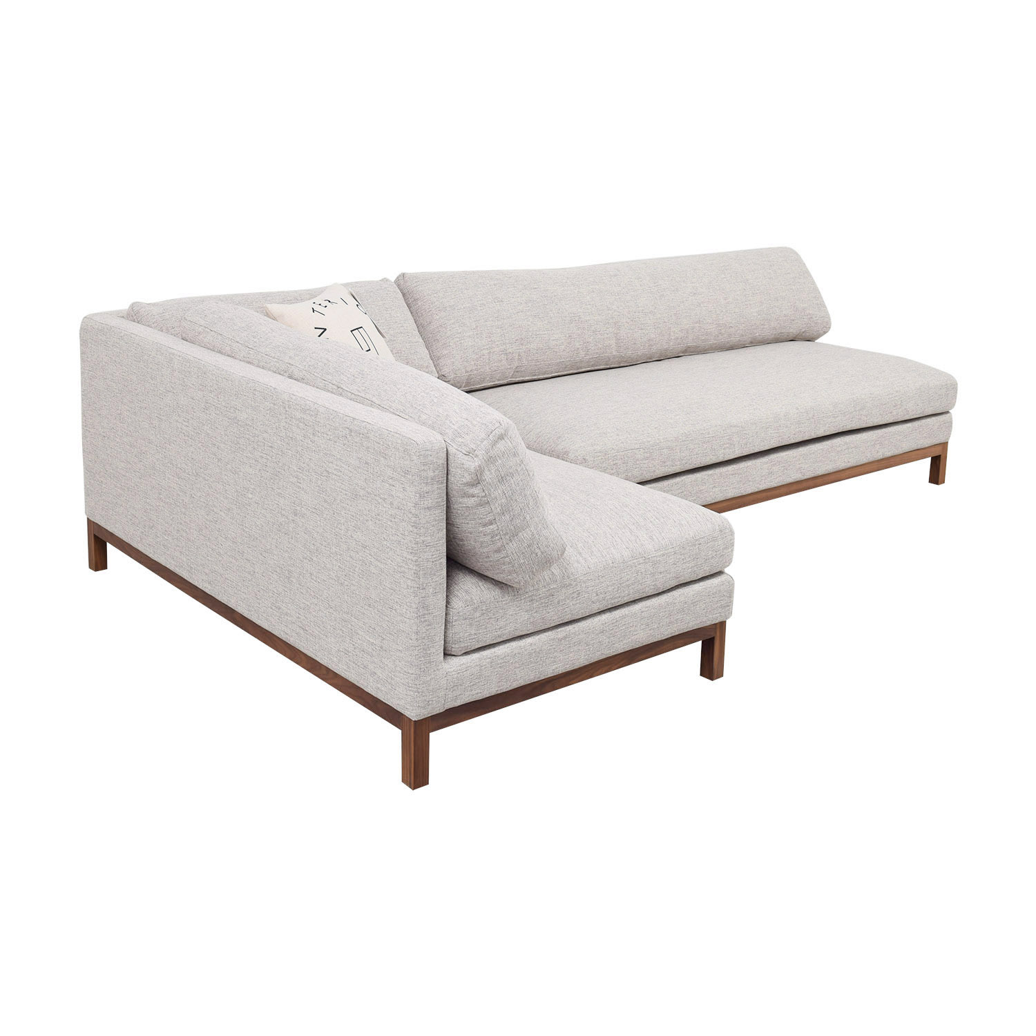 buy Jasper Heather Grey Left Chaise Sectional