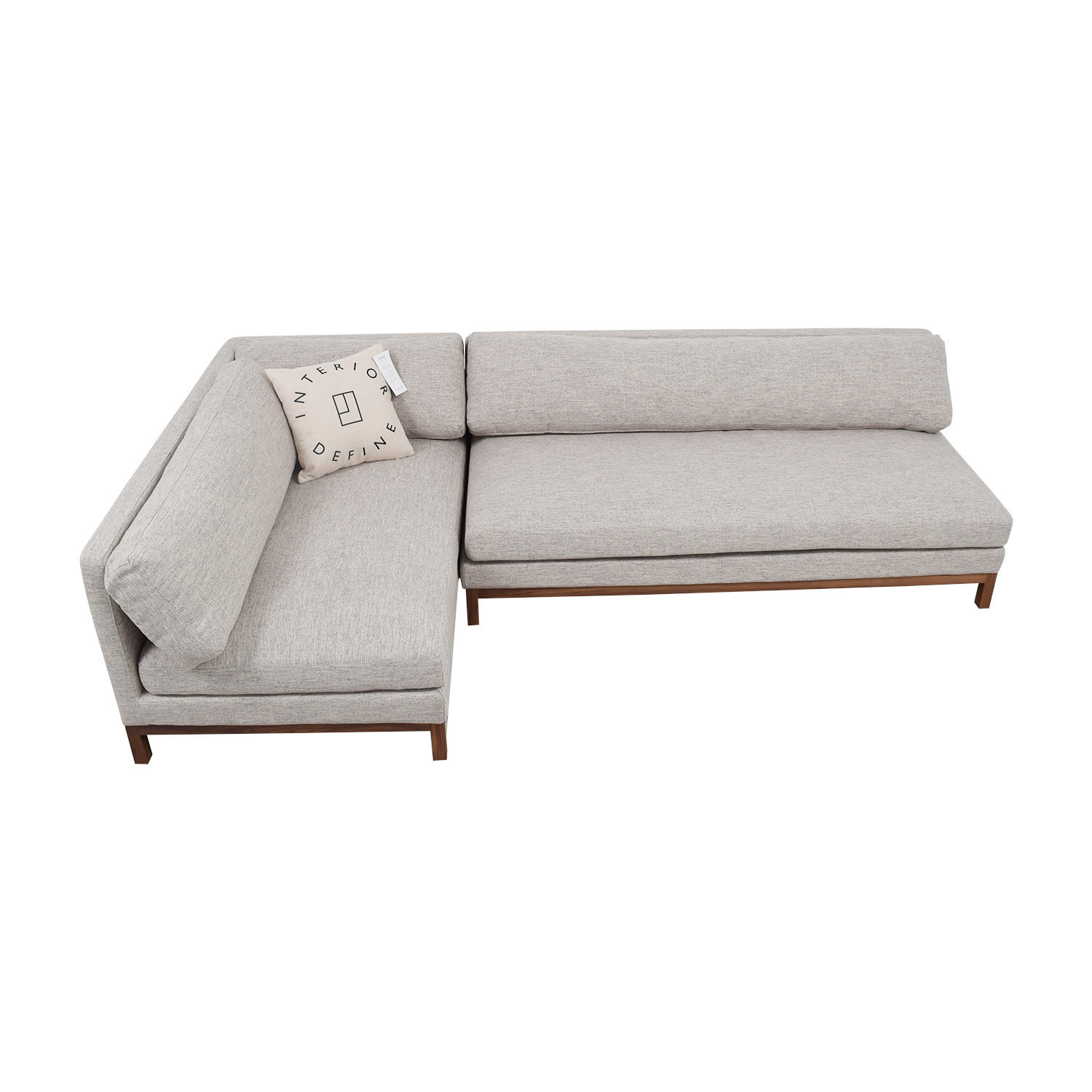 buy Jasper Heather Grey Left Chaise Sectional  Sectionals