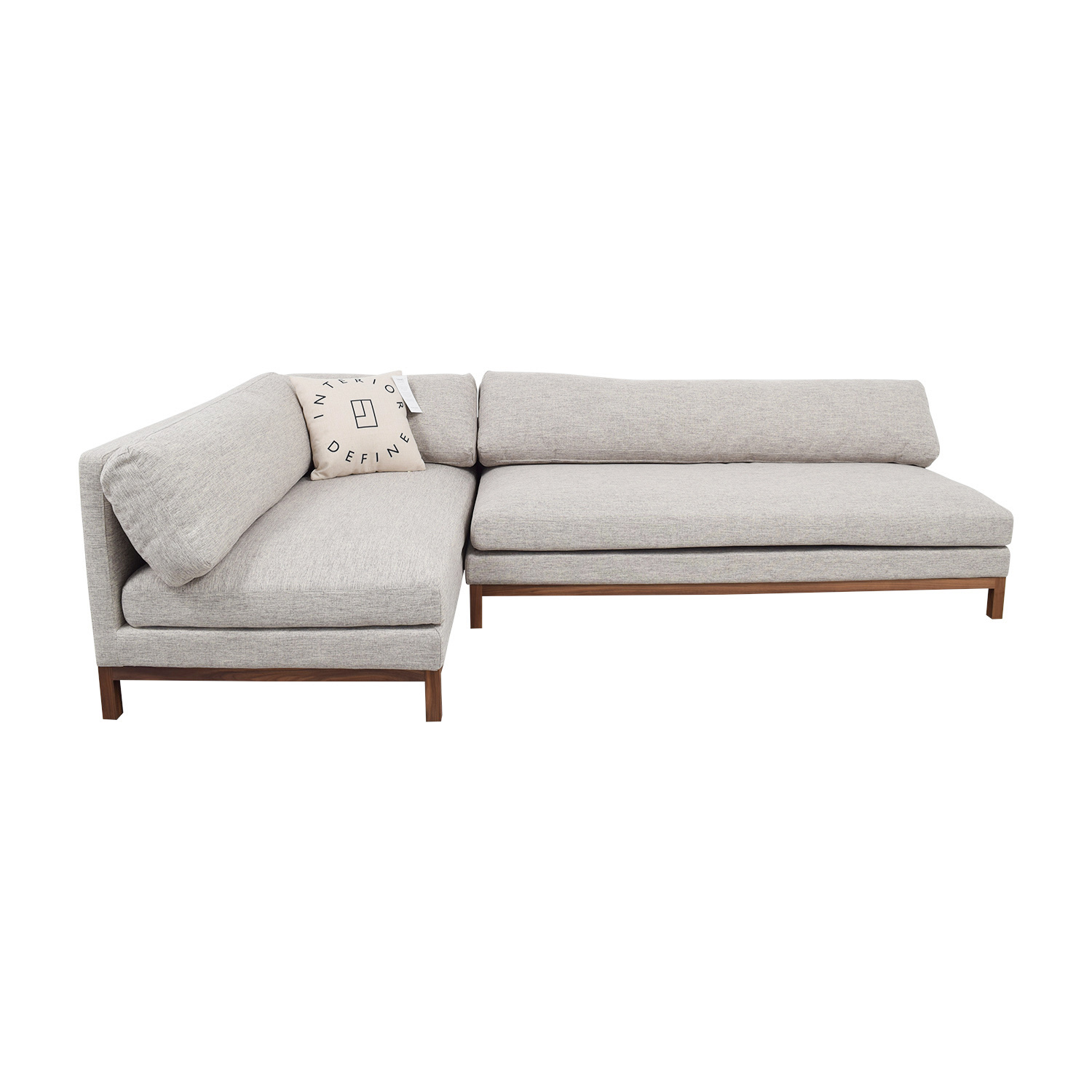 Jasper Heather Grey Left Chaise Sectional Sectionals
