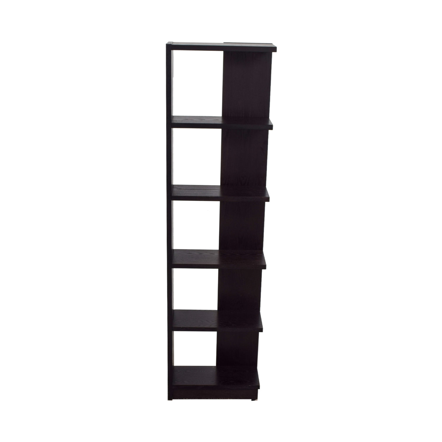 buy Crate & Barrel Asymmetric Bookcase Crate & Barrel Bookcases & Shelving
