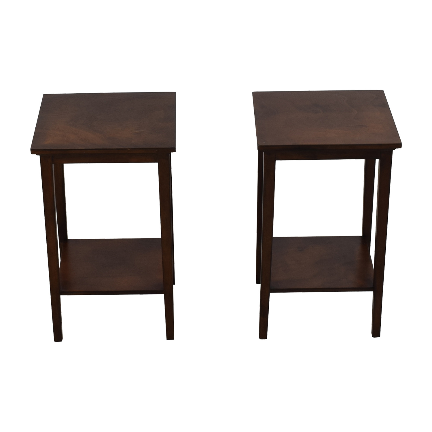 shop Wood Nightstands with Lower Shelf  Tables