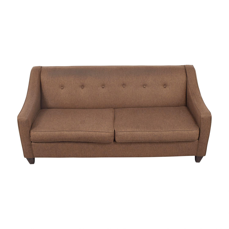 buy Craftmaster Furniture Brown Tweed Tufted Two Cushion Sofa Craftmaster Furniture