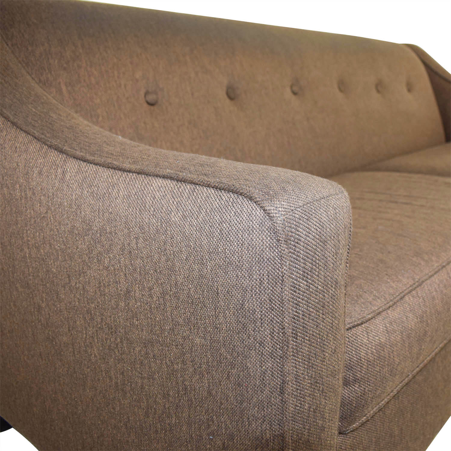 buy Craftmaster Furniture Craftmaster Furniture Brown Tweed Tufted Two Cushion Sofa online