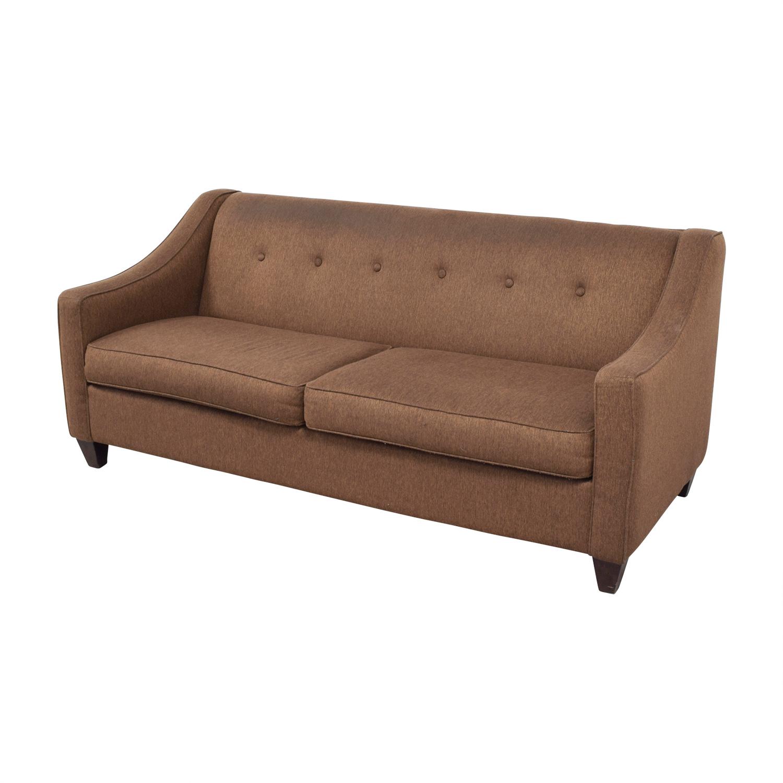 Craftmaster Furniture Brown Tweed Tufted Two Cushion Sofa / Sofas