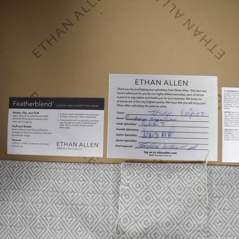 buy Ethan Allen Hyde White Three-Cushion Sofa Ethan Allen Classic Sofas