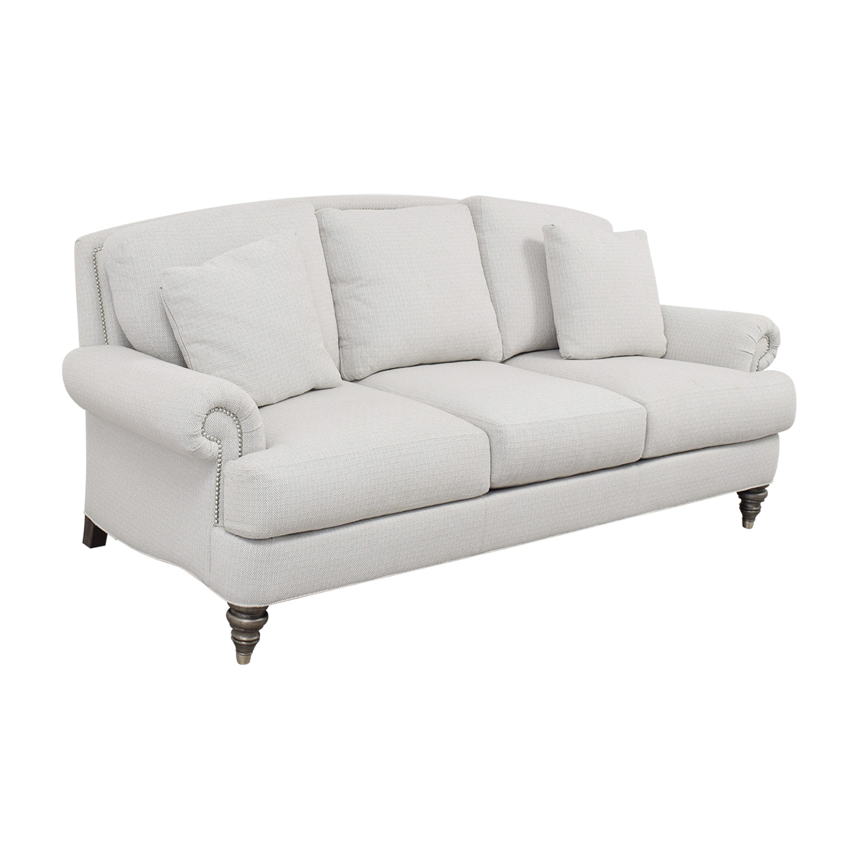 74 Off Ethan Allen Ethan Allen Hyde White Three Cushion