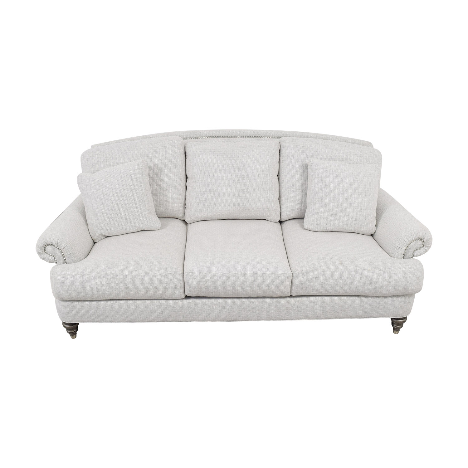 Ethan Allen Ethan Allen Hyde White Three-Cushion Sofa Sofas