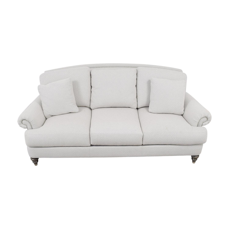 Ethan Allen Ethan Allen Hyde White Three-Cushion Sofa for sale
