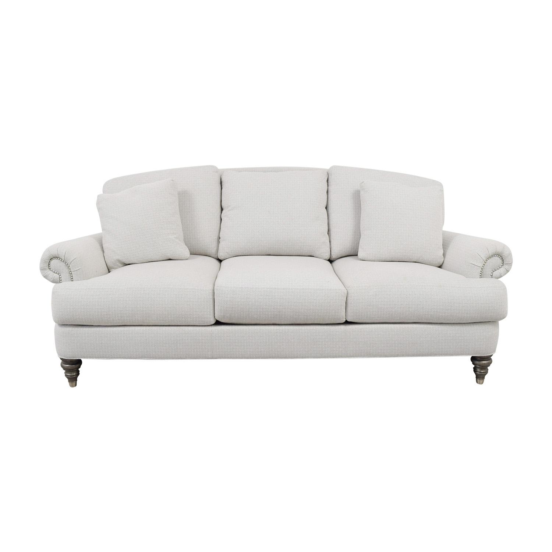 Ethan Allen Ethan Allen Hyde White Three-Cushion Sofa dimensions