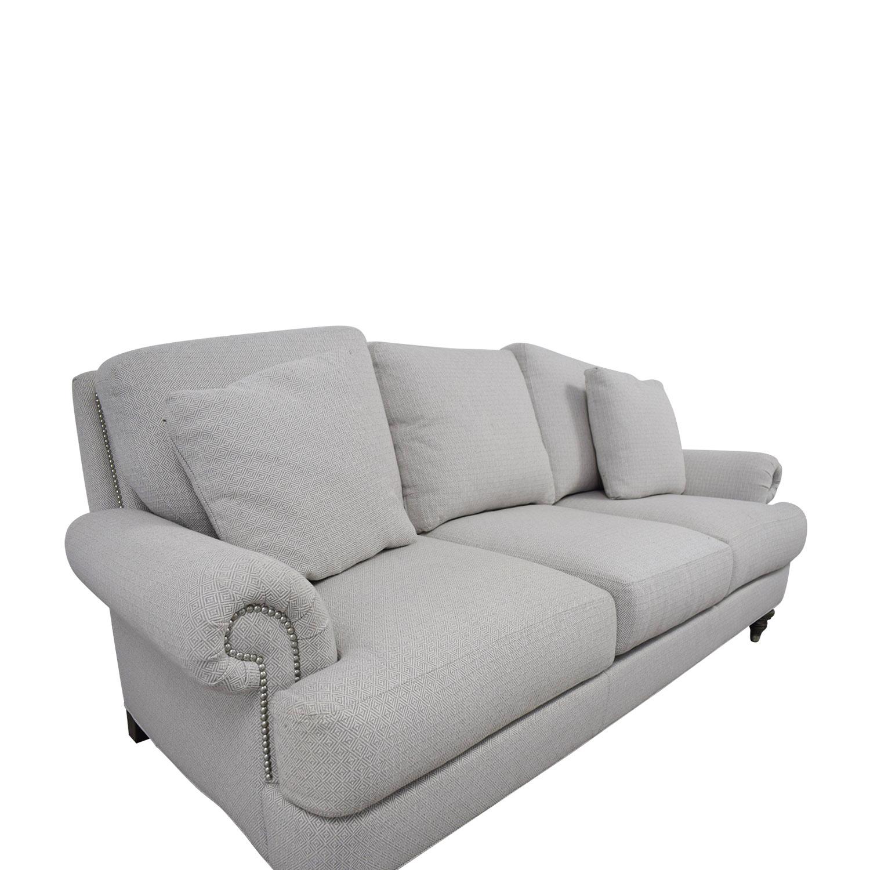 ... Ethan Allen Hyde White Three Cushion Sofa Ethan Allen ...