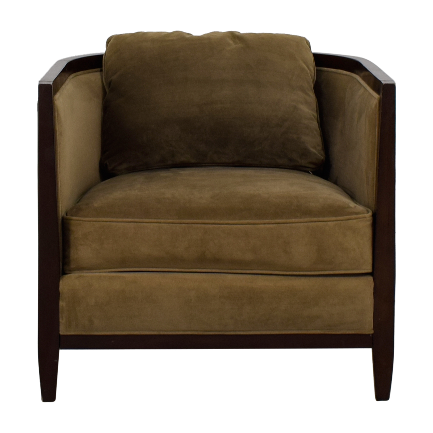 buy Bloomingdale's Beige Upholstered Wood Accent Chair Bloomingdale's Chairs