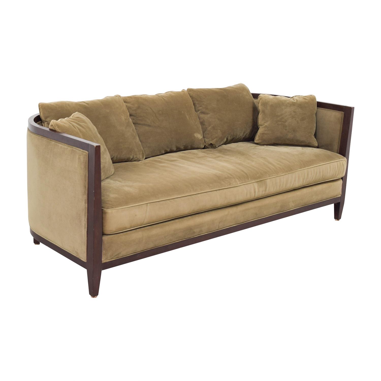 Bloomingdale's Brown Single Cushion Sofa sale