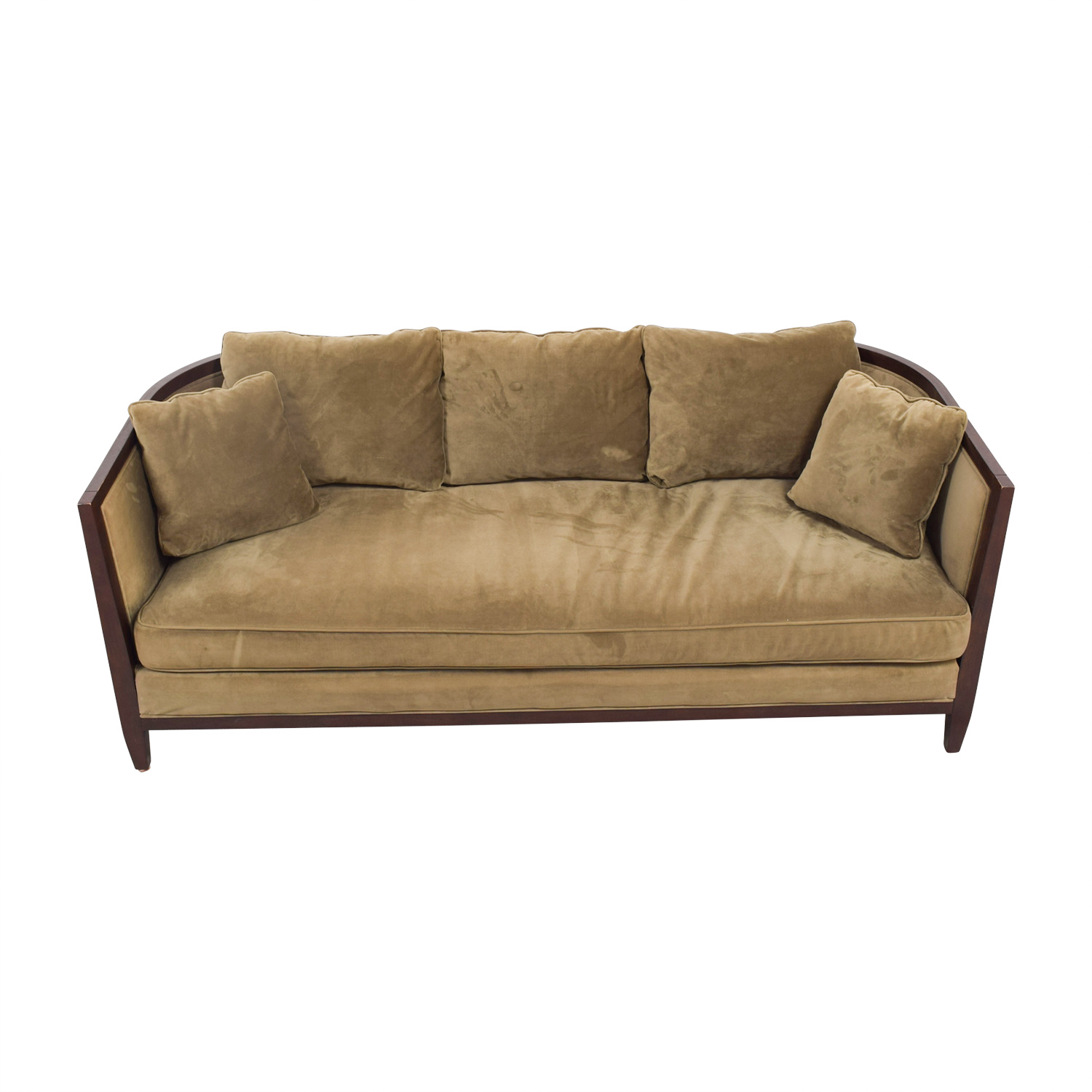 Bloomingdale's Brown Single Cushion Sofa sale