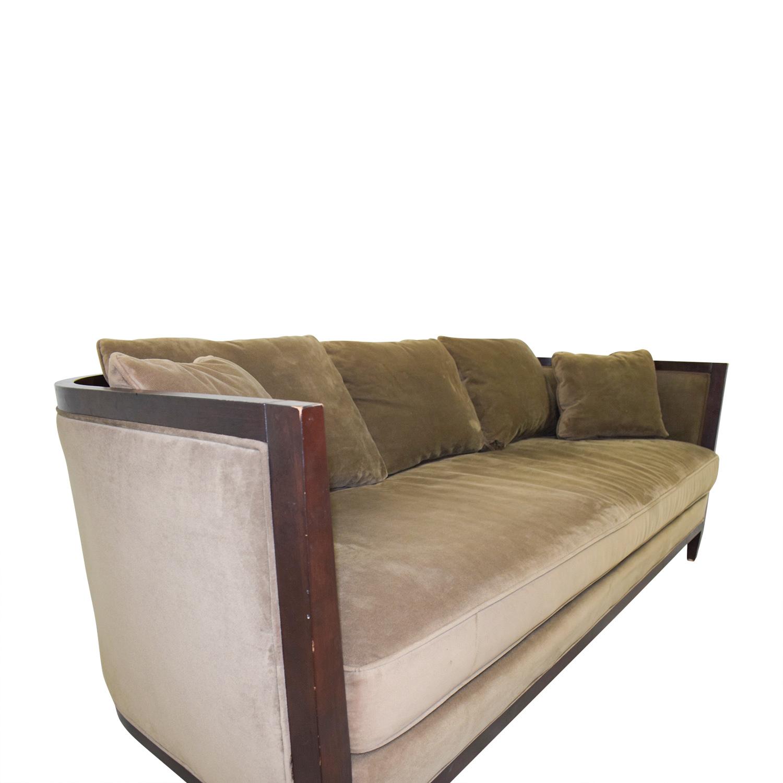 buy Bloomingdale's Brown Single Cushion Sofa Bloomingdale's Classic Sofas