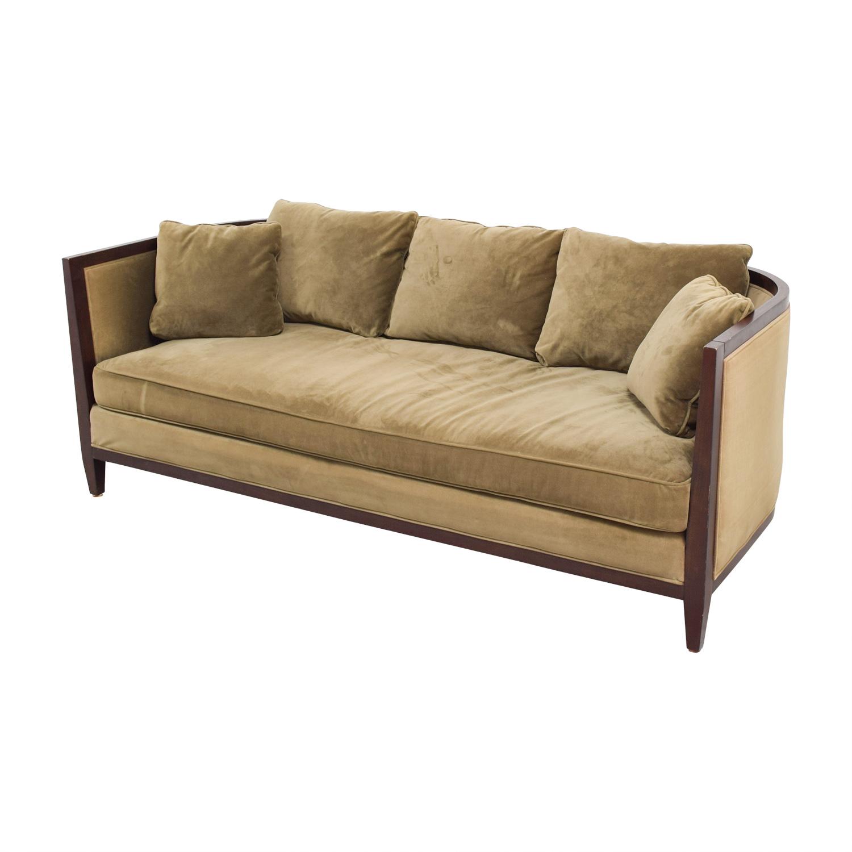 Bloomingdale's Brown Single Cushion Sofa / Classic Sofas