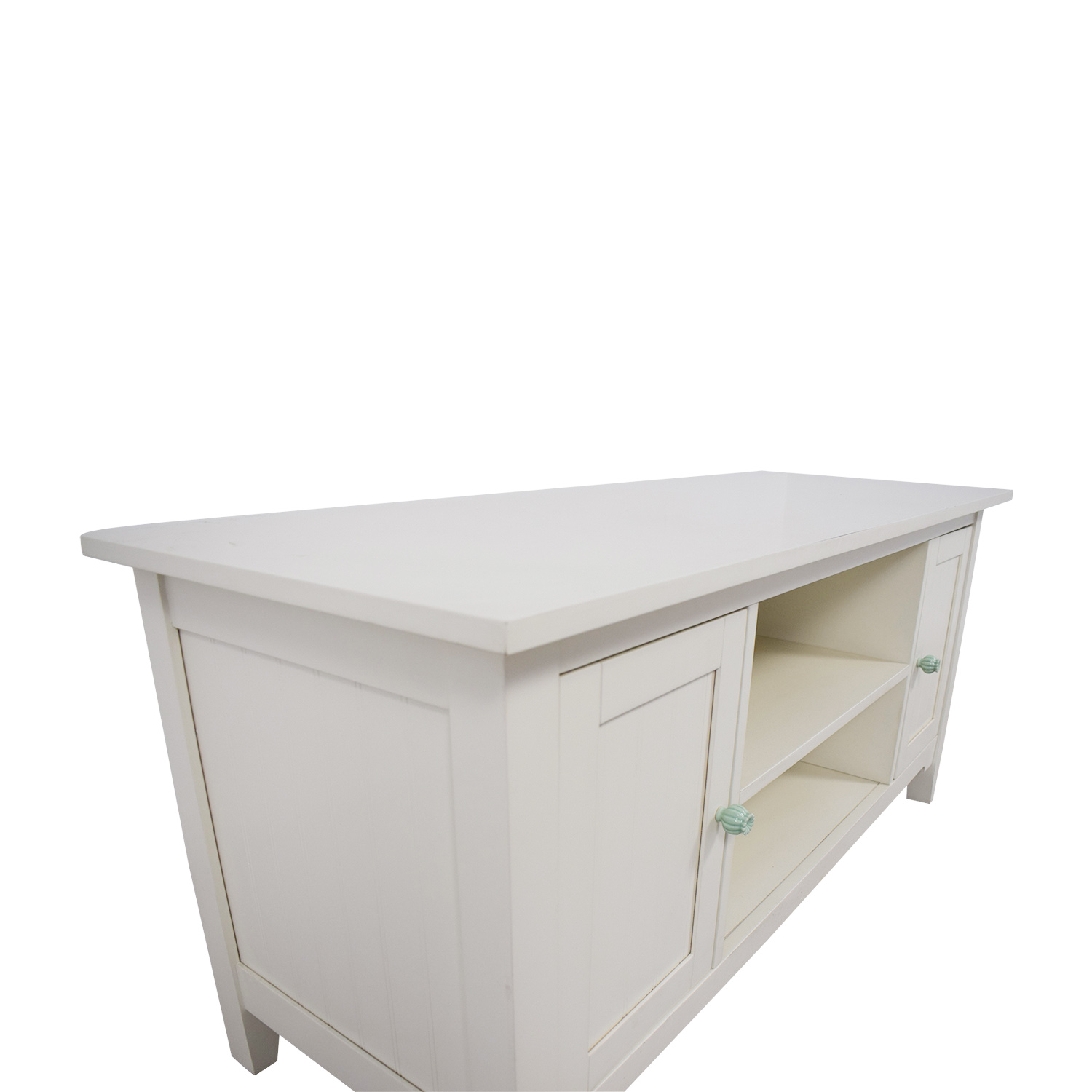 shop Shabby Chic White Entertainment Center  Storage